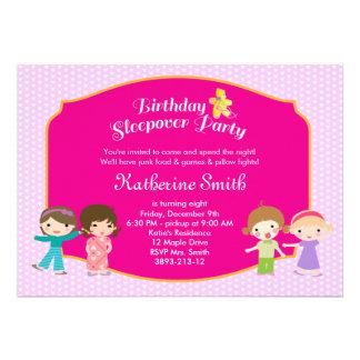 Pajama Birthday Party Personalized Invites