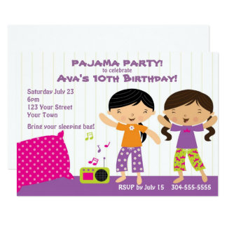 Pajama Party for Girls Card