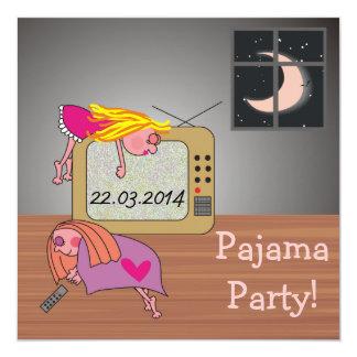 Pajama Party Sleeping Girls Cute Invitations
