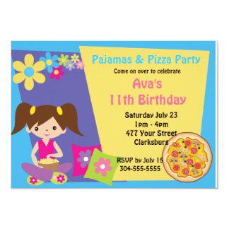 Pajamas & Pizza Party Card