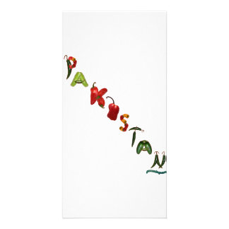 Pakistan Chili Peppers Personalized Photo Card