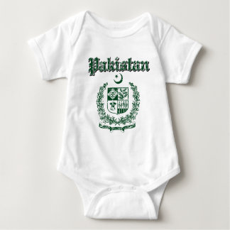 Pakistan coat of arms designs baby bodysuit