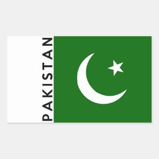 pakistan country flag text name sticker