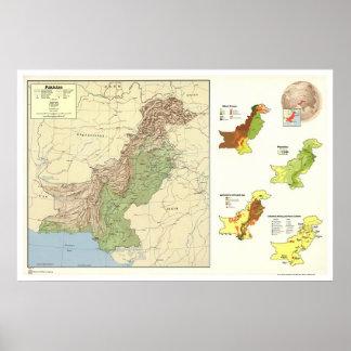Pakistan Detailed Map - 1973 Poster