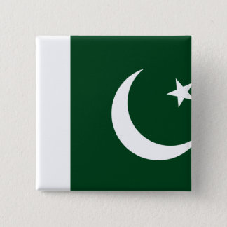 Pakistan Flag 2 Inch Square Button