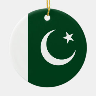 Pakistan Flag Ceramic Ornament
