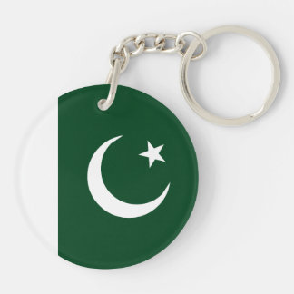 Pakistan Flag Double-Sided Round Acrylic Keychain