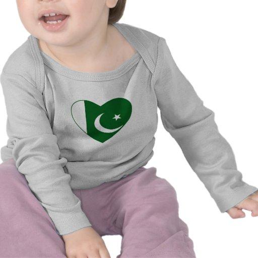 Pakistan Flag Heart T-Shirt