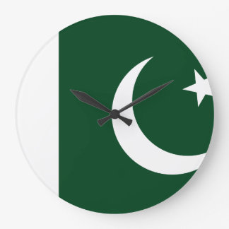Pakistan Flag Large Clock
