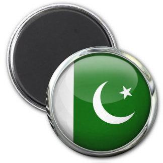 Pakistan Flag Round Glass Ball 2 Inch Round Magnet