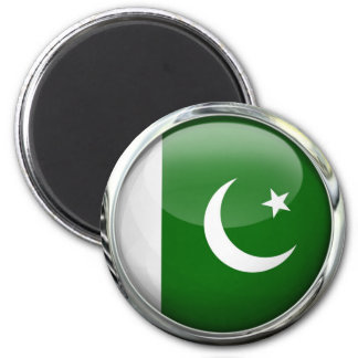 Pakistan Flag Round Glass Ball Magnet