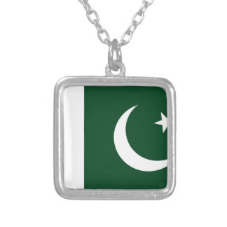 Pakistan Flag Silver Plated Necklace