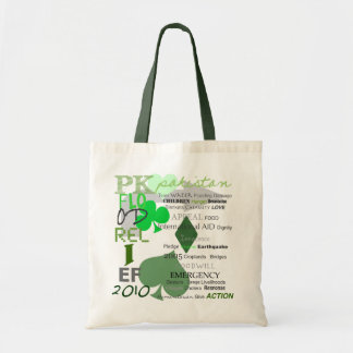 Pakistan Flood Relief - Green Recyclable Tote