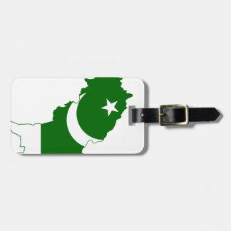 Pakistan Map Flag Bag Tag