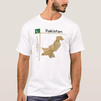 Pakistan Map + Flag + Title T-Shirt