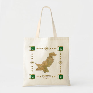 Pakistan Map + Flags Bag
