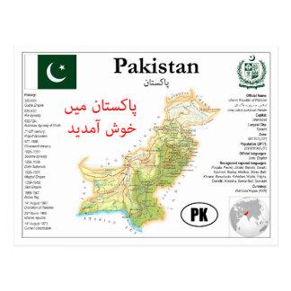 Pakistan map Postcard