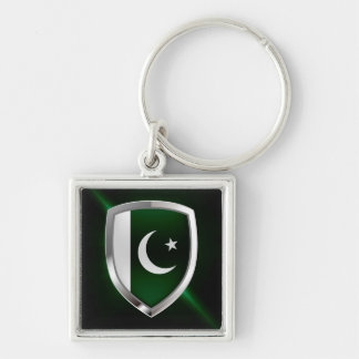 Pakistan Metallic Emblem Keychain