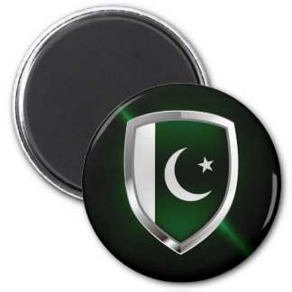 Pakistan Metallic Emblem Magnet