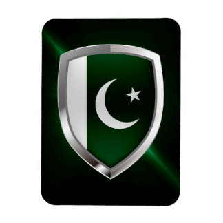 Pakistan Metallic Emblem Rectangular Photo Magnet