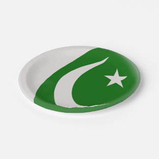 Pakistan Pakistani Flag Paper Plate
