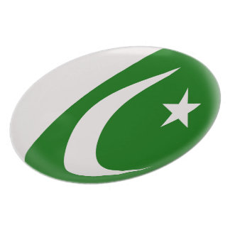Pakistan Pakistani Flag Plate