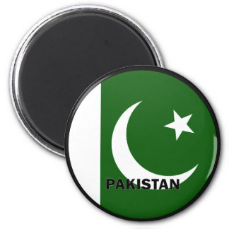 Pakistan Roundel quality Flag 2 Inch Round Magnet