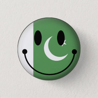 Pakistan Smiley 1 Inch Round Button