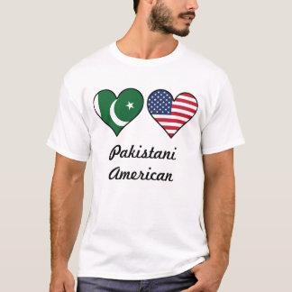 Pakistani American Flag Hearts T-Shirt