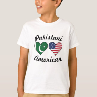 Pakistani American Flag Hearts T-Shirt