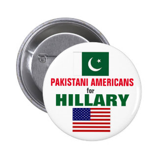 Pakistani Americans for Hillary 2016 2 Inch Round Button