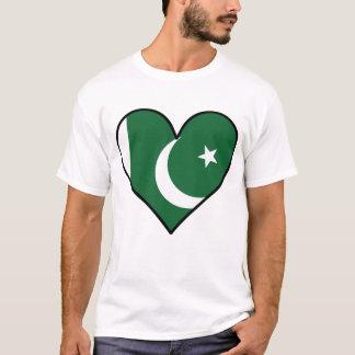 Pakistani Flag Heart T-Shirt