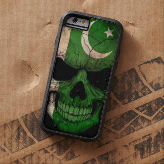 Pakistani Flag Skull on Black Tough Xtreme iPhone 6 Case