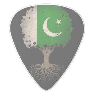 Pakistani Flag Tree of Life Customizable White Delrin Guitar Pick