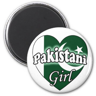 Pakistani Girl 2 Inch Round Magnet