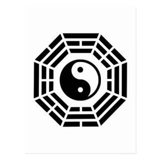 Pakua yin yang postcard