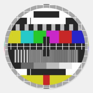 PAL TV test signal Round Sticker