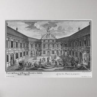 Palace at Munich, Germany Poster