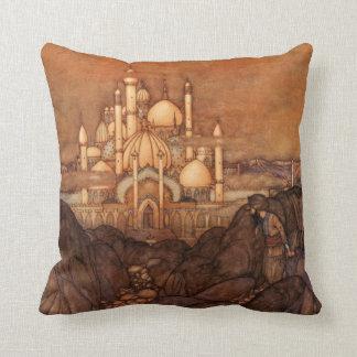 Palace Edmund Dulac Architecture Arabian Nights Throw Pillow
