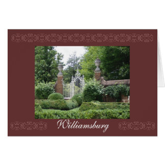 Palace Gardens, Williamsburg Card