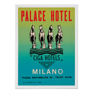 Palace Hotel Milano Poster