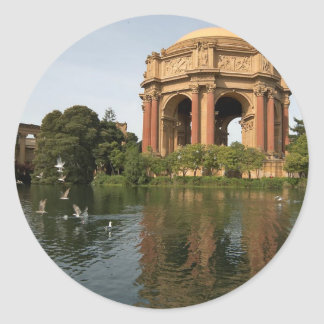 Palace Of Fine Arts In San Francisco Classic Round Sticker