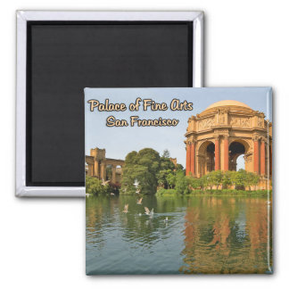 Palace of Fine Arts San Francisco California Square Magnet