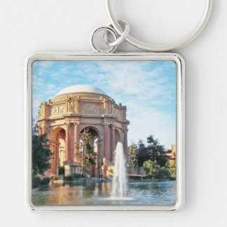 Palace of Fine Arts - San Francisco Silver-Colored Square Keychain