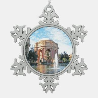 Palace of Fine Arts - San Francisco Snowflake Pewter Christmas Ornament