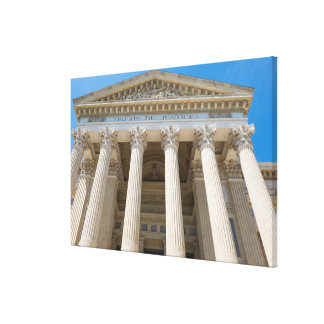 Palace Of Justice Exterior Canvas Print