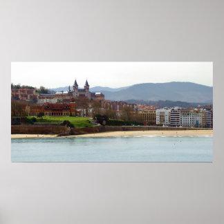 Palace of Miramar in Donostia - San Sebastian Poster