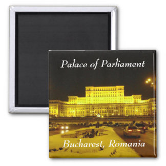 Palace of Parliament, Bucharest, Romania Square Magnet