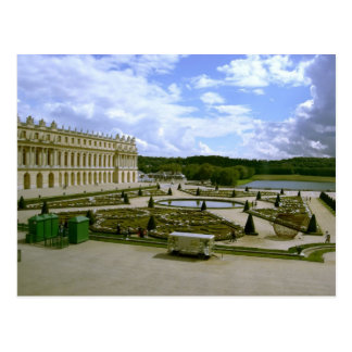 Palace of versailles garden postcard