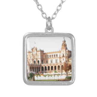 palace on the river silver plated necklace